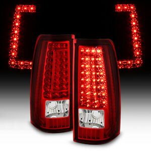 2003 2006 Chevy Silverado 1500 2500 3500 Gmc Sierra Led Strip Tail Lights Lamps