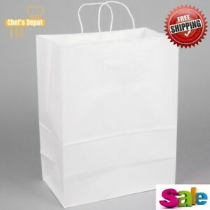 Duro 84642 Bags W paper Twisted Handles 13 X 7 X 17 White Case Of 250