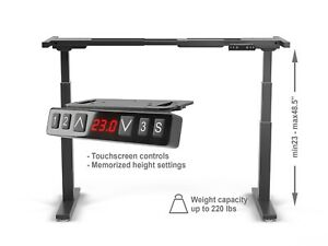 Premium Electric Height Adjustable Standing Desk Frame Only W Dual Motor