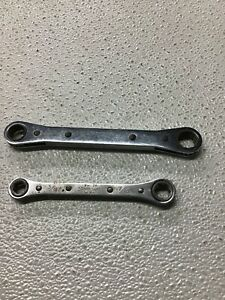 Lot Of 2 Snap On Ratchet Wrenches 1 2 9 16 3 8 7 16 Usa B1