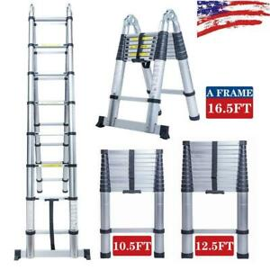 10 5 16 5ft Simple Aluminium Foldable Extension Ladder Telescopic Scaffold