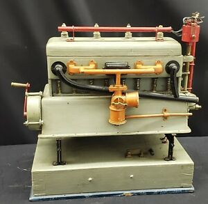 1940 S Training Wooden 4 Cylinder Auto Engine Model With Working Parts