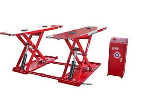8000lbs Automotive Mid Rise Scissor Lift Auto Car Scissor Lift Overall Width 76