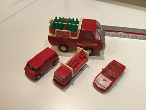 1980s Buddy L Coca Cola Truck W/ lot of 3 Cars