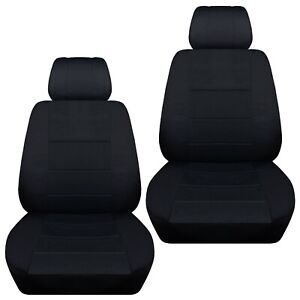 Front Set Car Seat Covers Fits Chevy Impala 2007 2020 Solid Black