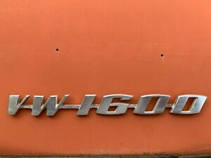 Vw Type 3 Volkswagen 361853687a Engine Lid Badge Vw1600 Emblem
