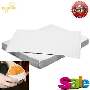 2000 Pack 10 3 4 X 14 Insulated Foil Sandwich Wrap Sheets Take Out Burger Case