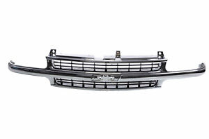 Grille Chrome Frame With Black Insert For Chevy Truck Tahoe Suburban Silverado