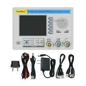 Dual Channel Dds Function Signal Generator Frequency Counter 3 2 Lcd Fy6200
