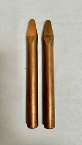 2 Vintage Unused Copper Solder Iron Replacement Tip 1 2 Dia a4