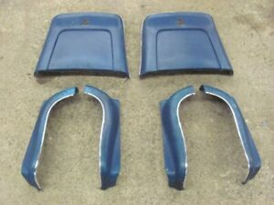 68 69 70 71 72 Pontiac Gto Gs Chevelle Monte Carlo Bucket Seat Trim Blue Power