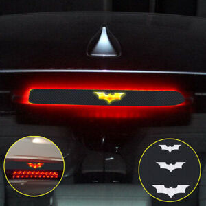 3pcs set Batman 3d Car Sticker Brake Tail Light Decal Carbon Fiber Accessories