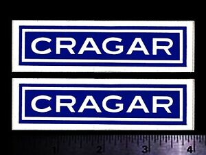 Cragar Set Of 2 Original Vintage 1960 s 70 s Racing Decals stickers