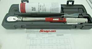 Snap On 3 8 Drive Electronic Micro Torque Wrench 5 100 Ft Lb Atech2fm100 New
