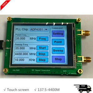 137 5 4400m Rf Signal Generator Spot Frequency Sweep Frequency Touch Screen