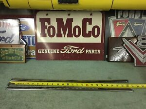 1954 Ford Front Seat Back Stainless L R Convertible Hardtop Glasstop