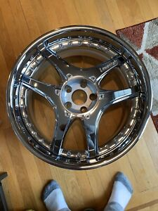 Lowenhart Lsr 3pc Rim 20 X 9 Et 25 5x112 Chrome Made In Japan One Wheel Only