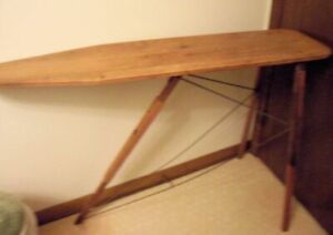 Antique Primitive Folding Wood Ironing Board Iron Clothing Collectible 1947