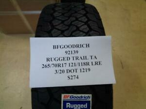 1 New Bfgoodrich Rugged Trail Ta 265 70 17 121 118r Lre Tire W Label 92139 Q0