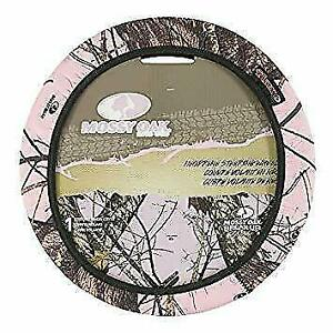 New Pink Mossy Oak Break Up Country Camo Steering Wheel Cover Free Shipping