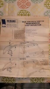 Rare Vtg Nos Subaru Rear Window Dust Deflector Roof Mount