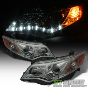 For Smoked 2012 2014 Toyota Camry Led Drl Projector Headlights Aftermarket 12 14