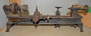 Rare Antique Oliver Bench Top Metal Lathe Jeweler Watchmaker Gunsmith Early Tool