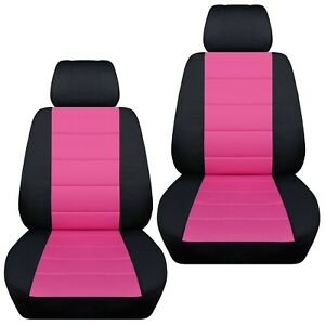 Front Set Car Seat Covers Fits Nissan Altima 2007 2020 Black And Hot Pink