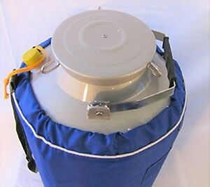 30l Liquid Nitrogen Ln2 Storage Tank Container Cryo Dewar Wide 5 Mouth Neck New
