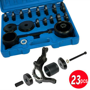 Front Wheel Bearing Adapter Drive Hub Puller Press Removal Tool Set 23pc W Case
