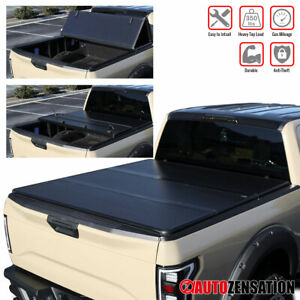 For 2019 2020 Chevy Silverado Sierra 1500 6 5ft Bed Hard Trifold Tonneau Cover