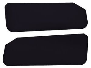 1988 1998 Chevy Gmc Full Size Truck Sun Visors Pair Black Cloth Sv201 1559