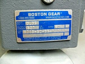Boston Gear F718 60 b5 h Reducer Ratio 60 1 7 8 Shafts Input 5 8