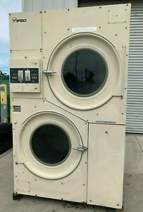 Ipso cissell 75lb Stack Dryer Two Pocket 3ph used Reconditioned