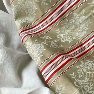 Upholstery Fabric Set Antique French Ticking Vintage Linen For Pillows Chairs