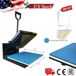 15 x15 Clamshell Heat Press Machine Sublimation Paper For T shirt Clothes Us