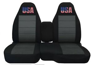 Front Set Car Seat Covers Fits Ford Ranger 1991 2012 60 40 Highback Usa Design