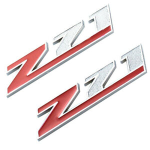 2x small Z71 Emblem 3d Aolly Decal Emblems For Gmc Chevy Silverado Suburban
