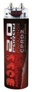 Boss Audio Cprd2 2 Farad Capacitor Red 24 High Input Voltage