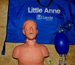 Laerdal Little Anne Adult Manikin Cpr Training With Carrying Bag