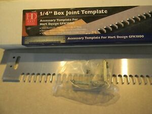 Hart Design Accessory 1 4 Box Joint Template For The Gfk1800 Dovetail Jig