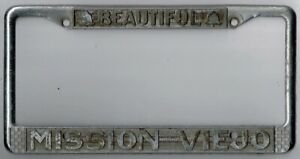 mission Viejo California beautiful Vintage License Plate Frame