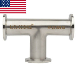 Kf 25 Nw 25 Tee Vacuum Fitting Ss304 Stainless Loco Science