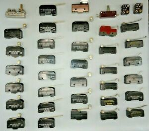 Micro Switch Mix Lot Snap Action Switches lot Of 37