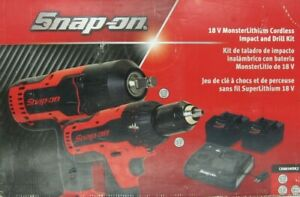 New Snap On 18v Cordless Drill Impact Combo Ct8850 And Cdr8850h W 2 Battery