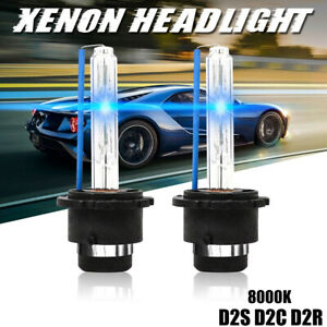 2x 8000k Ice Blue D2s D2r D2c Hid Xenon Bulbs Factory Replacement Headlight Kit