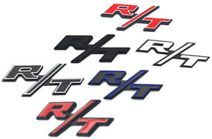 New R T Emblem Side Fender Rt Badge Sticker Nameplate 1pc