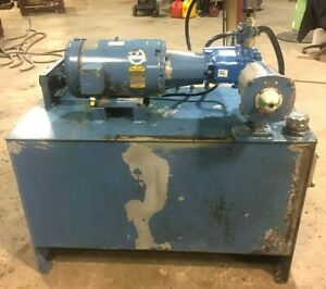 10hp Hydraulic Power Unit W vickers Pvq45 Pump On An 80 Gal Reservior