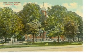 HASTINGS MICHIGAN COURT HOUSE SQUARE PM1915 MICH H $1.00