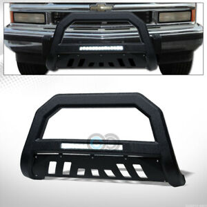 Fit 97 00 Chevy gmc C k C10 Truck Textured Black Avt Aluminum Led Light Bull Bar